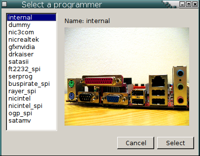Select a programmer