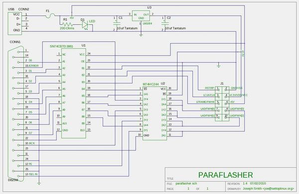 Paraflasher Schematic
